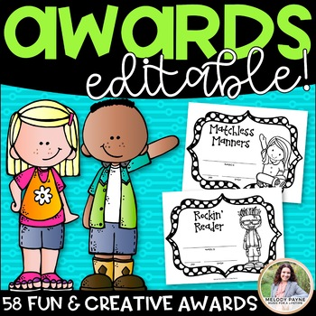 End of the Year Awards {Elementary, Editable PowerPoint: A