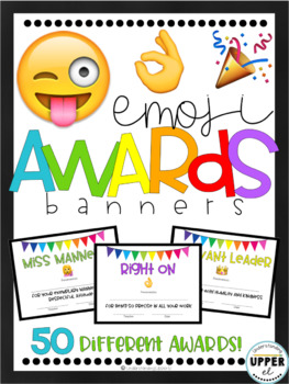 End of the Year Awards - Emojis with Banner Design (partially EDITABLE!)