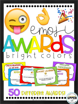 End of the Year Awards - Emojis & Bright Color Backgrounds (partially EDITABLE!)