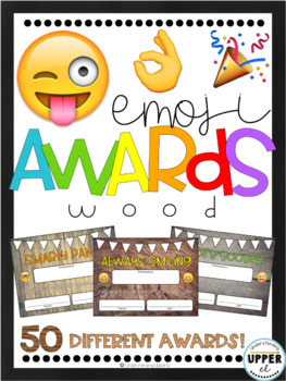 End of the Year Awards - Emojis & Rustic Wood Background (partially EDITABLE!)