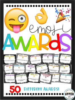 End of the Year Awards - Emojis & Black + White Backgrounds (partially EDITABLE)