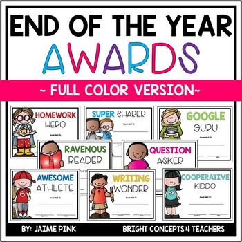 End of the Year Awards {FULL COLOR}