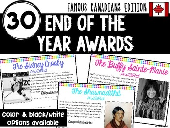 End of the Year Awards: Famous Canadians Edition