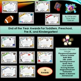 End of the Year Awards For Toddlers, Preschoolers, Pre-K, and Kindergarten!