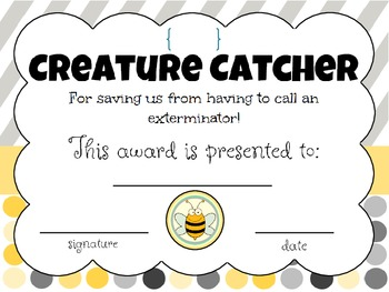 End of the Year Awards & Gifts (bee theme)