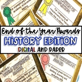 End of the Year Awards-HISTORY Edition {Digital AND Paper}