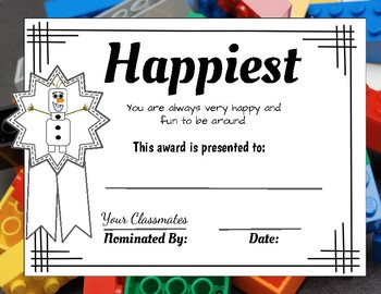 End of the Year Awards: Lego Inspired (Editable)