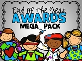 End of the Year Student Awards MEGA Pack (Editable Color a