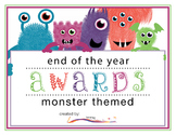 End of the Year Awards – Monster Themed