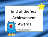 End of the Year Awards-Monster Theme