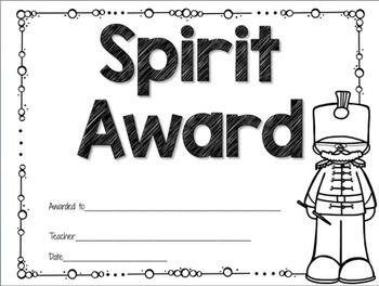 End of the Year Awards {Music Class} {Editable} {Black & White}