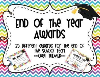 End of the Year Awards **Owl Themed**