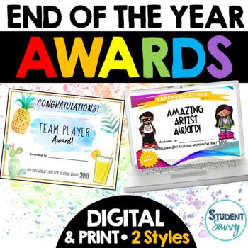 End of the Year Activities - Awards Activities Portfolios Bundle