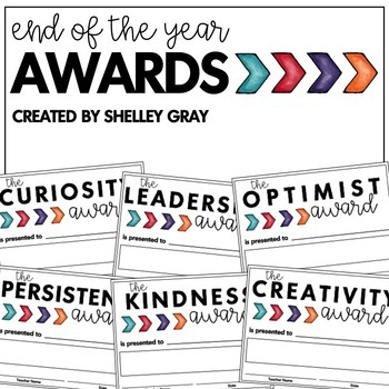 End of the Year Awards   Positive Character Traits   Growth Mindset