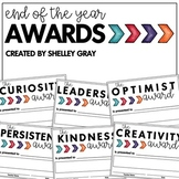 End of the Year Awards | Positive Character Traits | Growth Mindset