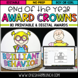 End of the Year Awards - Printable Crowns