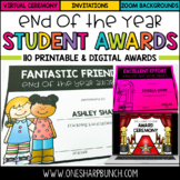 Distance Learning - End of the Year Awards - Printable & D