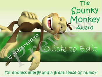 Presenting: End of the Year Awards! Printable & PowerPoint Presentation
