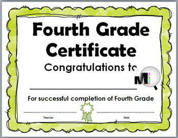 End of the Year Awards – Promotion Certificates – Grade 4