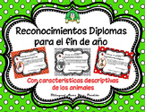 End of the Year Awards Reconocimientos Diplomas EDITABLE Mrs. Partida