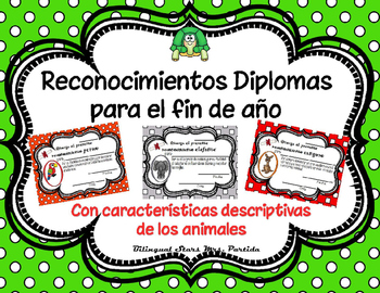End of the Year Awards Reconocimientos Diplomas EDITABLE M