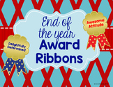 End of the Year Awards - Ribbon Certificates (Perfect for