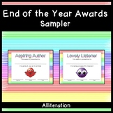 End of the Year Awards Sampler