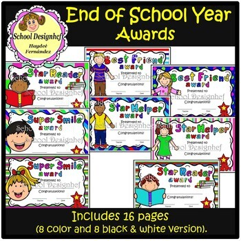 End of the Year Awards (School Designhcf)