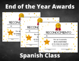 End of the Year Awards   Spanish   Printable