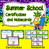 Summer School Certificates: End of the Year Awards - Pineapple Theme