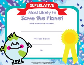 End of the Year Awards: Super Cute Superlatives 24 Unique Certificates