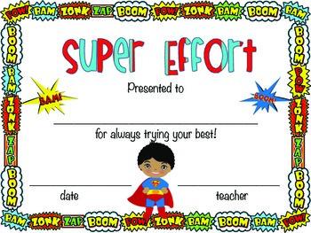 End of the Year Awards!  Superhero Theme!