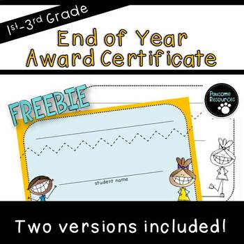 End of the Year Awards Template (***FREEBIE***)