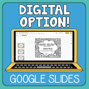 End of  Year Awards Your Students Can Color! (Grades 3-6)