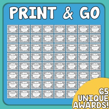 End of the Year Awards Your Students Can Color! (Grades 3-6)