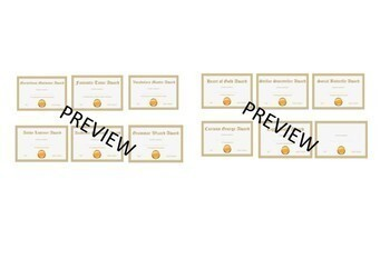 End of the Year Awards Gold Edition and Reflection Activities for Teens Bundle
