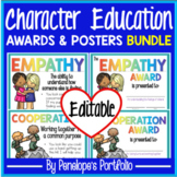 Character Education Awards and Posters BUNDLE