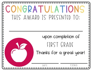 End of Year Awards | End of the Year Certificates | End of Year Activities