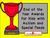 End of the Year Awards for Kids with Autism and Special Needs