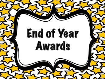 End of the Year Awards for Students