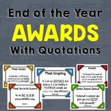 End of the Year Awards with Quotations