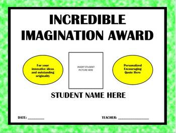 Personalized - End of the Year - Awesome Alliteration Awards