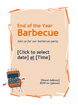 End of the Year BBQ Flyer