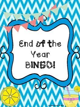End of the Year BINGO!