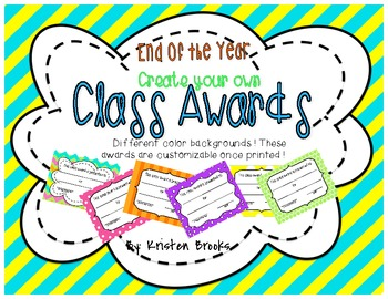 End of the Year BLANK class Awards!