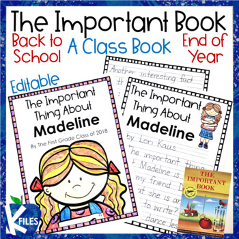 Back to School or End of the Year Class Book