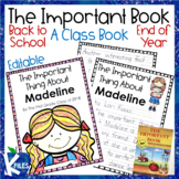 Back to School, End of the Year or Student of the Week Class Book