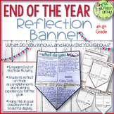 End of the Year, Banner, Reflection, Writing