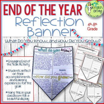End of the Year Banner-Reflecting on the Past Year-ANY Subject