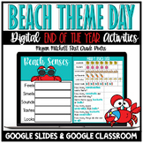 End of the Year Beach Theme Day Activities | Distance Lear